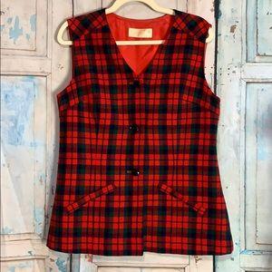 Pendleton Wool Plaid Vest